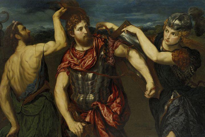 Paris Bordone~Perseus Armed by Mercu - Old classic art