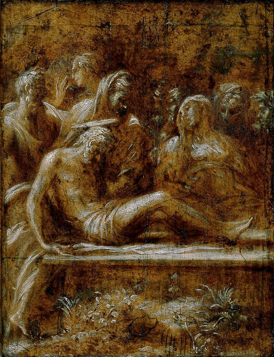 Parmigianino~The Entombment of Chris - Old classic art
