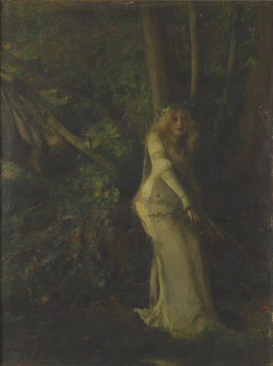 Pascal Dagnan-Bouveret~A Young Woman - Old classic art
