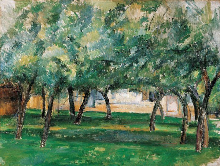 Paul Cezanne~Farm in Normandy, C. 18 - Old classic art