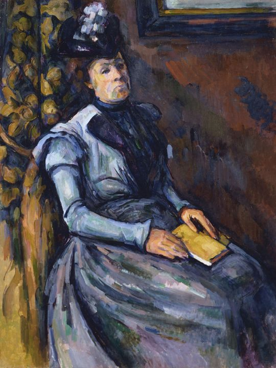 Paul Cezanne~Seated Woman in Blue - Old classic art