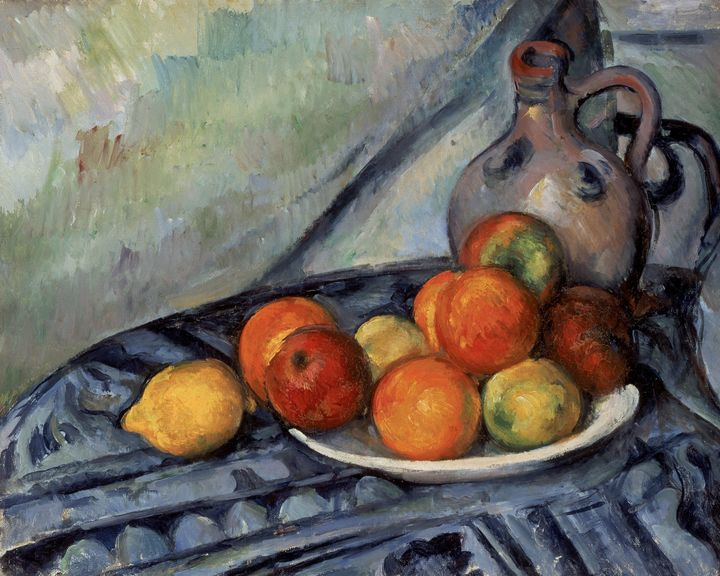 Paul Cézanne~Fruit and a Jug on a Ta - Old classic art