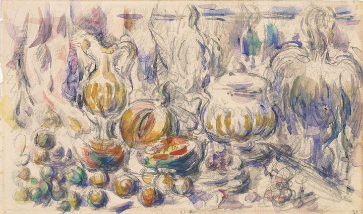 Paul Cézanne~Pot and Soup Tureen - Old classic art
