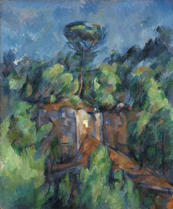 Paul Cézanne~Quarry at Bibémus (Carr - Old classic art