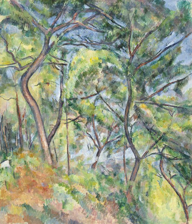Paul Cézanne~Sous-Bois - Old classic art