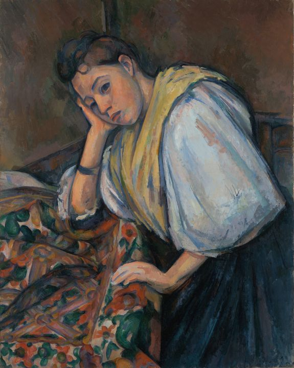 Paul Cézanne~Young Italian Woman at - Old classic art