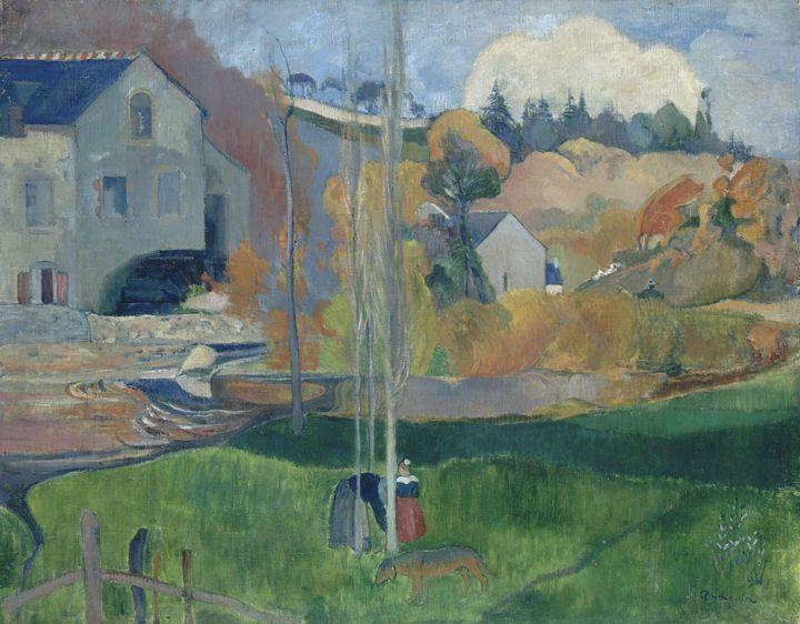 Paul Gauguin~Landscape in Brittany. - Old classic art