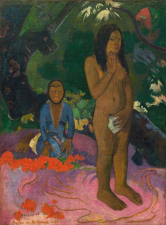 Paul Gauguin~Parau na te Varua ino ( - Old classic art