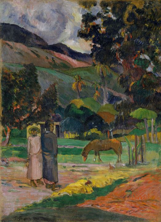 Paul Gauguin~Tahitian Landscape - Old classic art