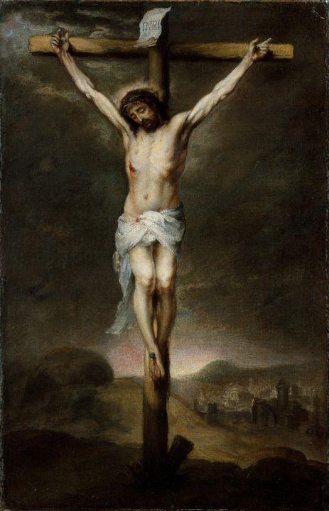 Bartolomé Esteban Murillo~The Crucif - Old classic art