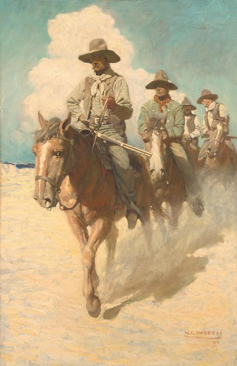 N. C. Wyeth~The Little Posse Started - Old classic art