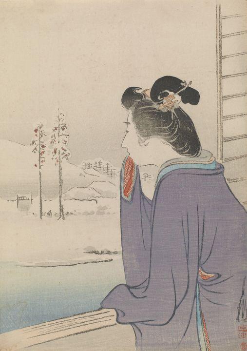 Ogata Gekkō~Snow scene - Old classic art