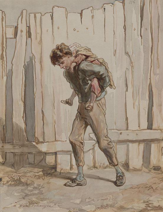 Paul Gavarni (French, 1804-1866)~A B - Old classic art
