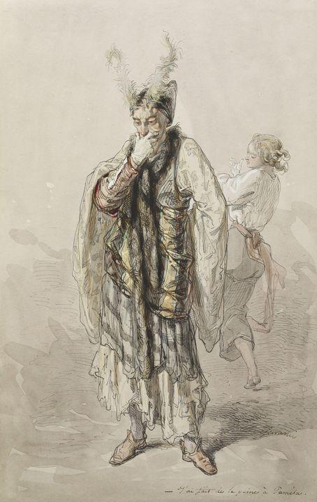 Paul Gavarni (French, 1804-1866)~Act - Old classic art