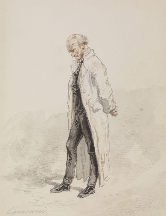 Paul Gavarni (French, 1804-1866)~Old - Old classic art