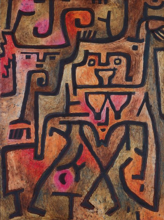 Paul Klee~Forest Witches - Old classic art