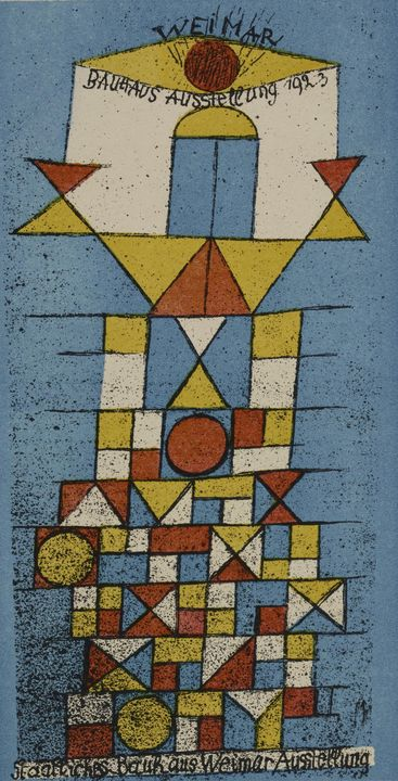 Paul Klee~The Sublime Side (Bauhaus - Old classic art