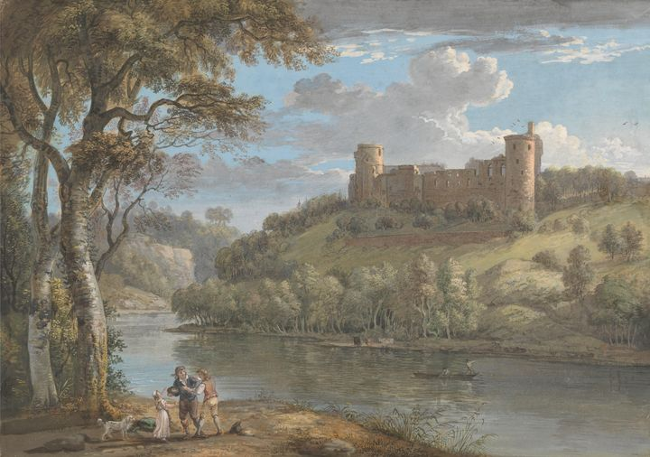 Paul Sandby ~ Bothwell Castle, from - Old classic art