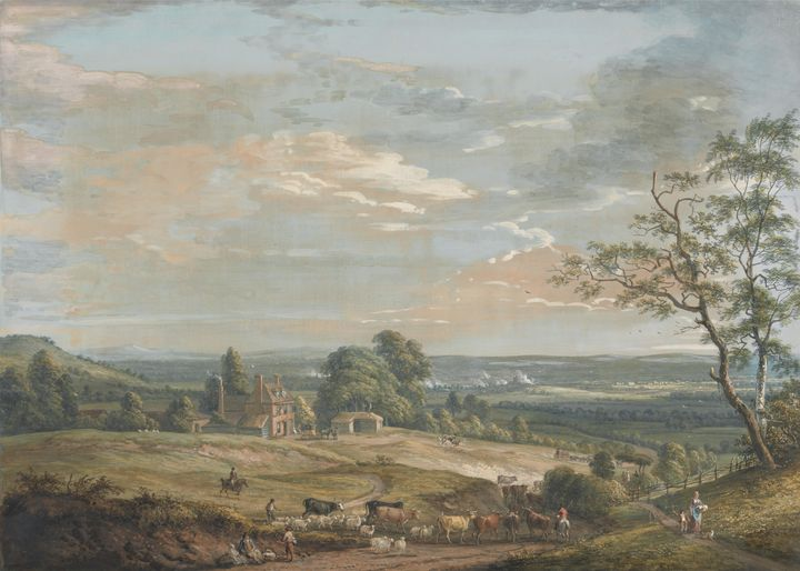 Paul Sandby~A Distant View of Maidst - Old classic art