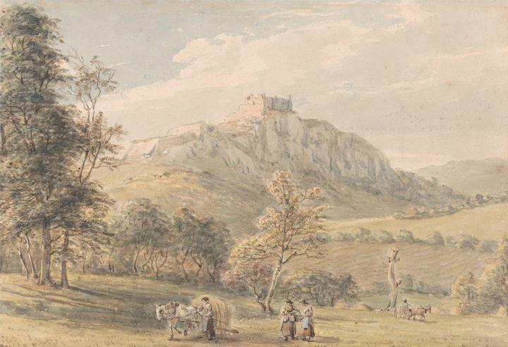 Paul Sandby~Carreg Cennan Castle - Old classic art