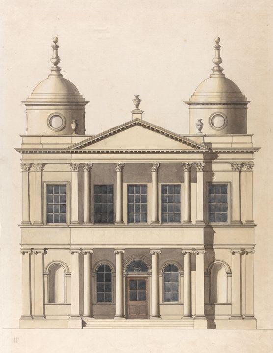 Paul Sandby~Design for a Church.Elev - Old classic art