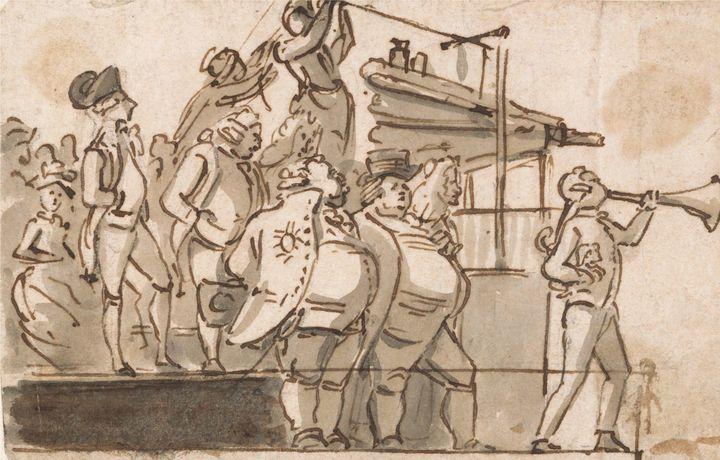 Paul Sandby~Election Scene - Old classic art