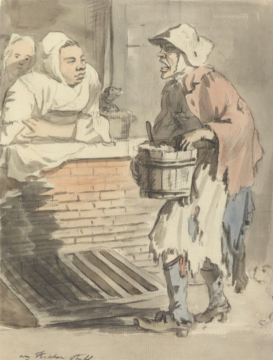 Paul Sandby~London Cries Any Kitchen - Old classic art