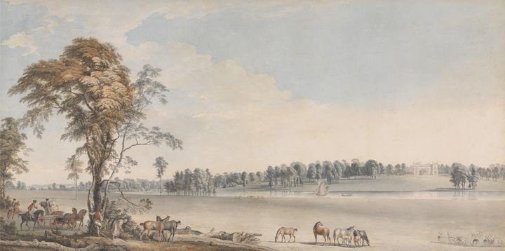 Paul Sandby~North West View of Wakef - Old classic art