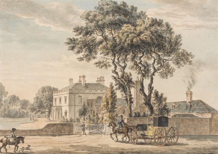 Paul Sandby~North-East View of Sir J - Old classic art