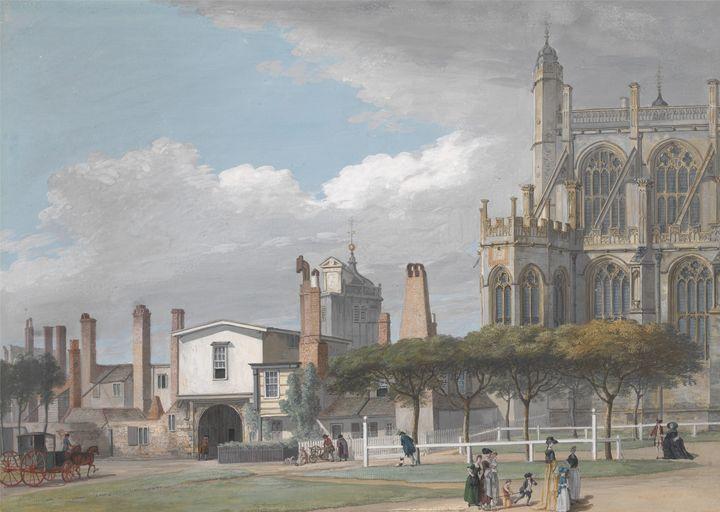 Paul Sandby~St. George's Chapel, Win - Old classic art