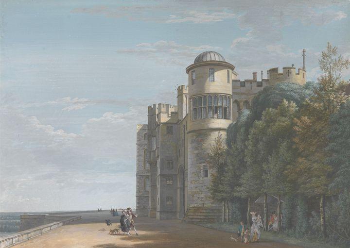 Paul Sandby~The North Terrace, Looki - Old classic art