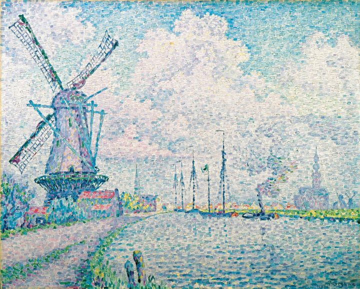 Paul Signac~Canal of Overschie - Old classic art