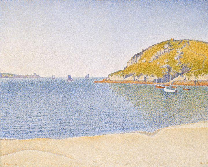 Paul Signac~Port of Saint-Cast - Old classic art