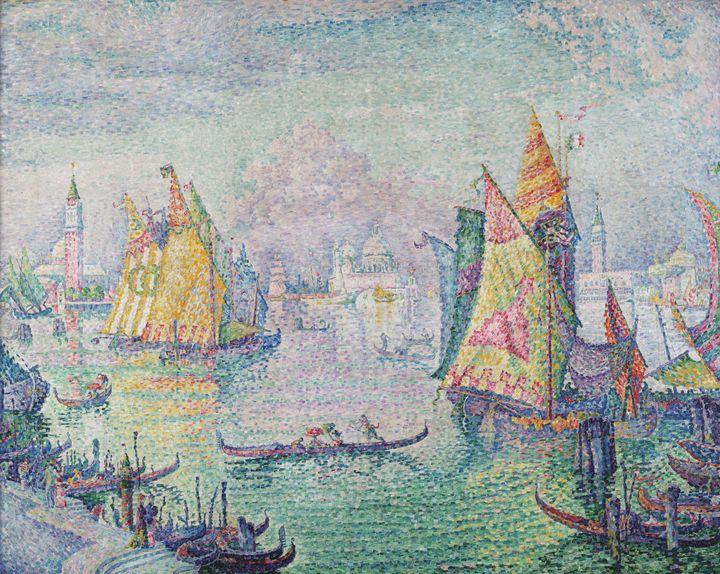 Paul Signac~The Lagoon of Saint Mark - Old classic art