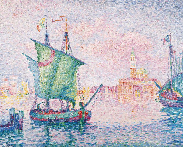 Paul Signac~Venice, The Pink Cloud, - Old classic art