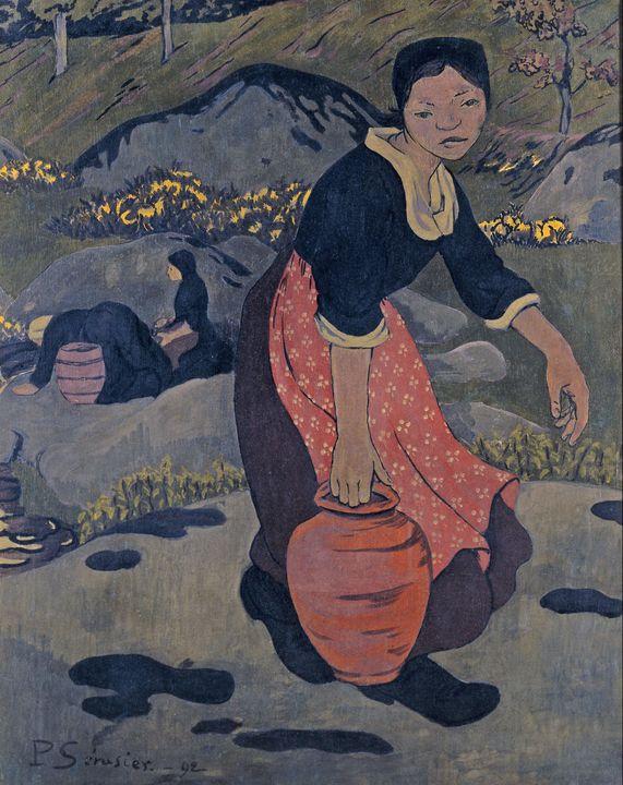 Paul Sérusier~Jeune Bretonne à la cr - Old classic art