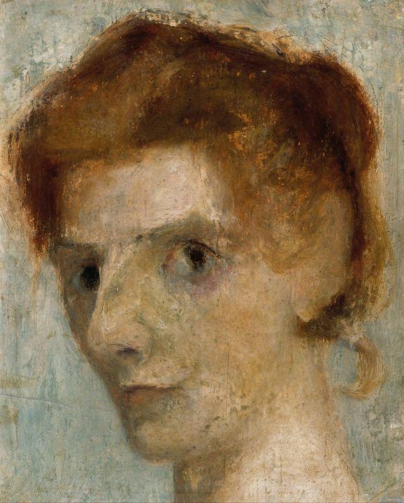 Paula Modersohn-Becker~Self-portrait - Old classic art