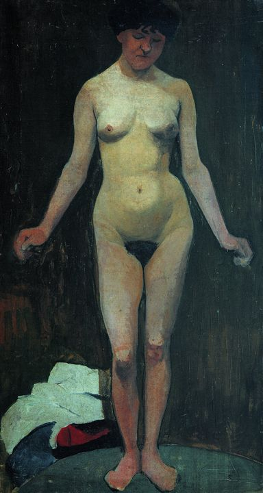 Paula Modersohn-Becker~Standing fema - Old classic art