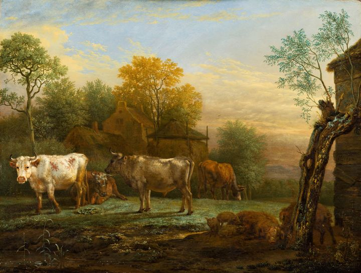 Paulus Potter~Cattle in a Meadow - Old classic art