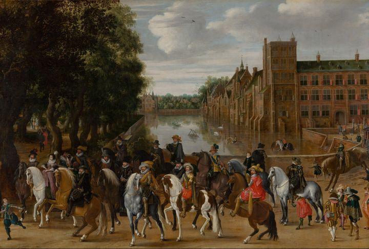 Pauwels van Hillegaert~The Princes o - Old classic art