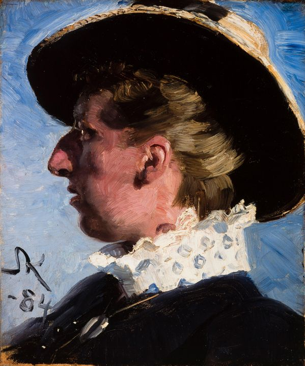 Peder Severin Krøyer~Anna Palm - Old classic art