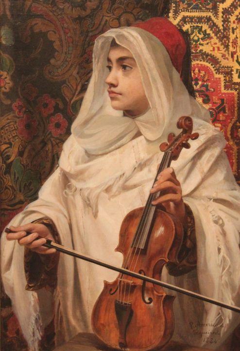 Pedro Américo~Rabequista árabe - Old classic art