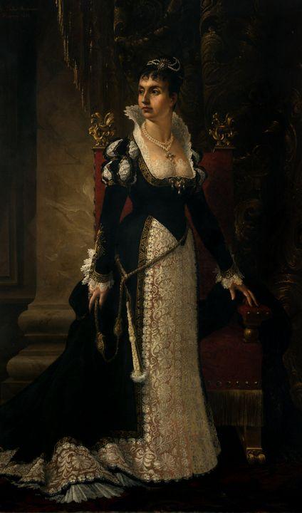 Pedro Américo~Retrato de Catarina de - Old classic art