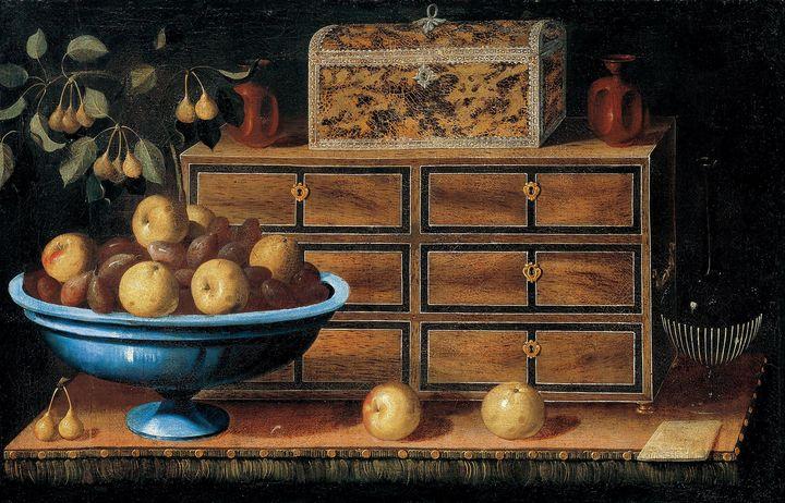 Pedro de Camprobin~Writing Desk with - Old classic art