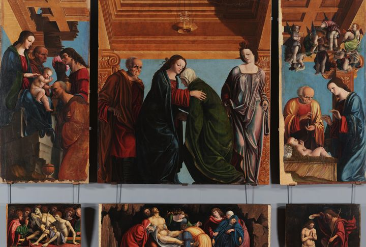 Pedro Fernandez~Polyptych of the Vis - Old classic art