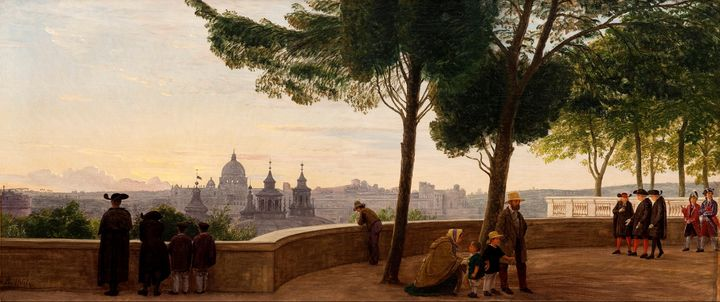 Peter Christian Skovgaard~View from - Old classic art