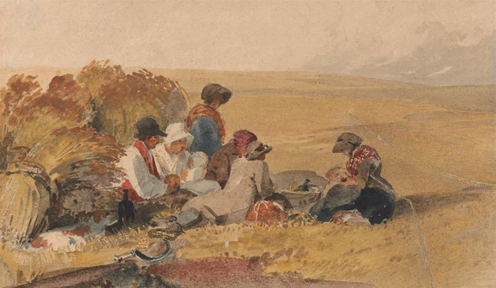 Peter DeWint~The Harvesters - Old classic art