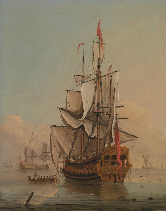 Peter Moona~Shipping in a Calm - Old classic art