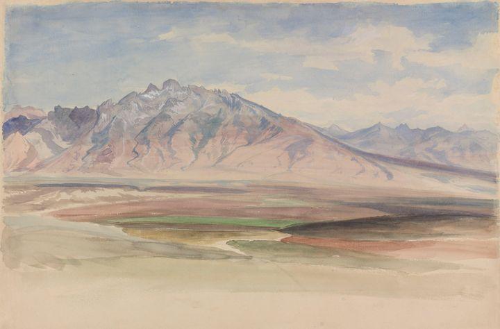 Peter Moran~The Ruby Range - Old classic art