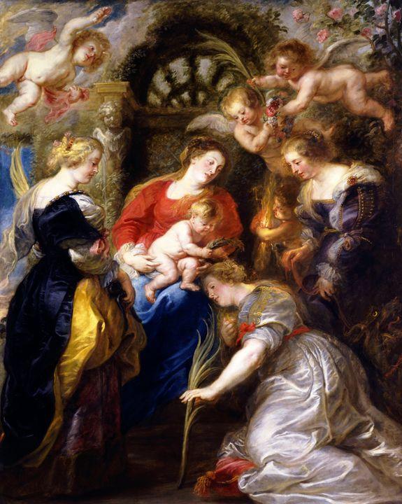 Peter Paul Rubens~Crowning of Saint - Old classic art